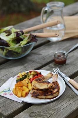 Cuisses de poulet fermier d'Auvergne à la créole cuit à la plancha